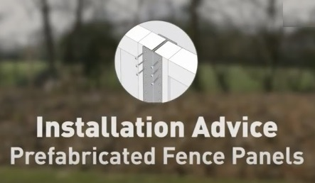 How to install prefabricated fence panels